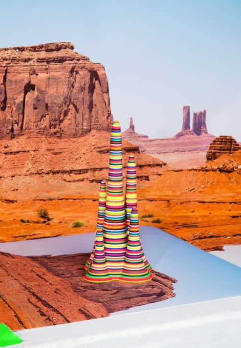 3D Printed Object in Desert